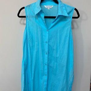Current sleeveless tunic turquoise